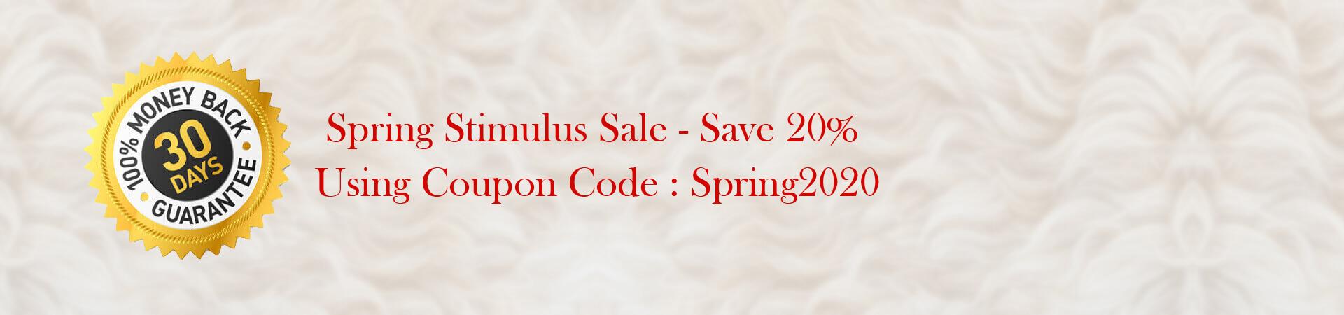 Spring Stimulus Sale - Save 20%