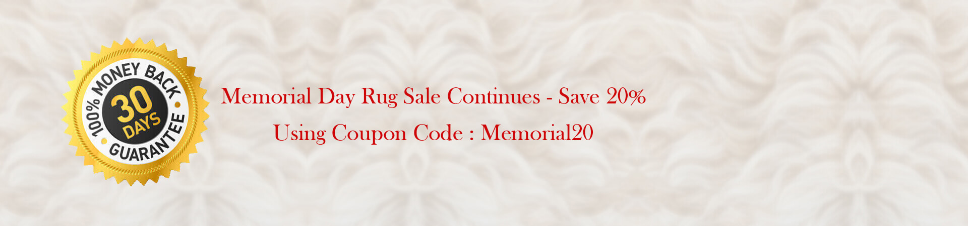 Memorial Day Rug Sale continues